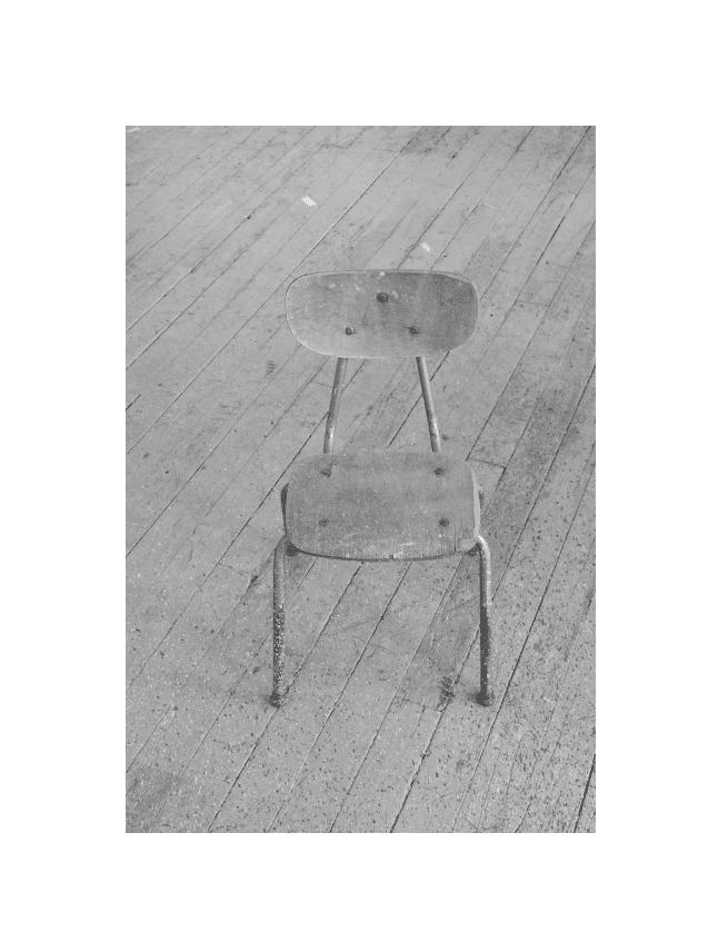 "Jan Cunningham, Studio Chair, 8 September 2016, 2016. Archival pigment print, 13"" x 19""."