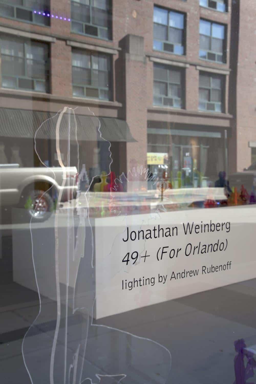 Jonathan Weinberg, installation view from 49+; Jessica Smolinski.